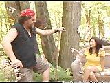 Ostre rżnięcie w lesie