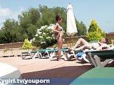 Publiczny seks na basenie