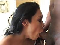 Czarny kutas w ustach gwiazdy porno