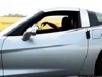 Podrywa laski na swój samochód