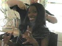 Czarnulka zaliczona u fryzjera