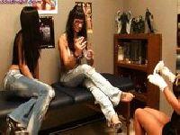 Trzy lesby w salonie piękności