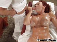 Janet Mason cała w spermie
