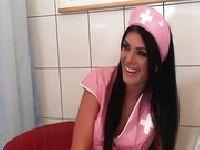 Różowa pielęgniarka