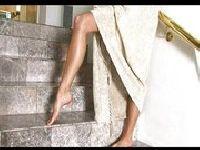 Golaska na schodach