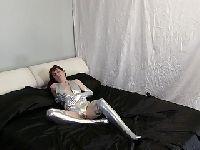 Panna w srebrnym stroju