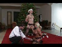 Rodzinny trójkąt w Boże Narodzenie