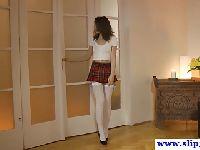 Rosyjska uczennica w seksownym uniformie