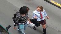 Posuwanie prawdziwej rosyjskiej uczennicy