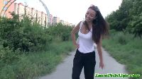 Nastoletnia miłośniczka aktywności na świeżym powietrzu
