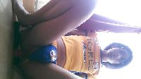 Piłkarka masuje sobie szparę dildo