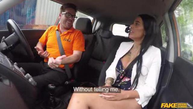 Nauka jazdy z ostrą kursantką